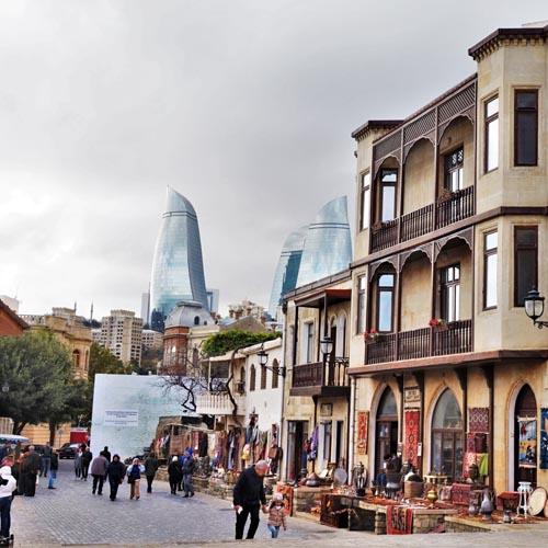 Baku winter