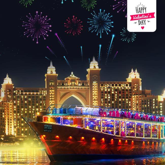 Valentine's Day in Dubai Marina Dhow 5* Dinner Cruise